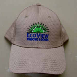 Image of Baseball cap with Ecoview logo embroidered on it.